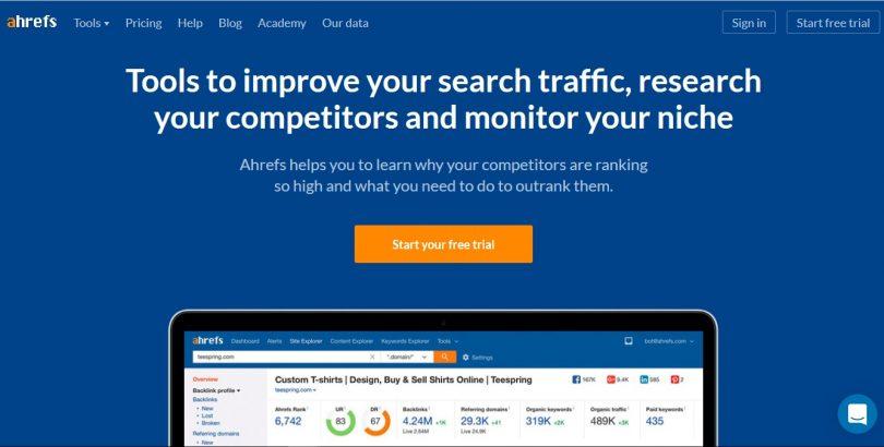 Анализируем внешнюю оптимизацию сайта с помощью Ahrefs изображение поста