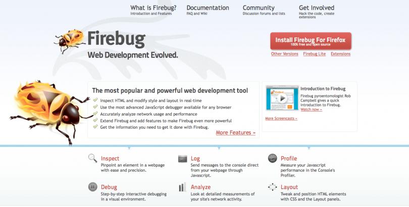 Изучаем FireBug, супер полезное дополнение для браузера Firefox изображение поста