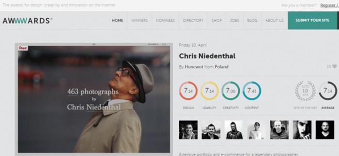 Цветовые стили дизайна веб-сайта