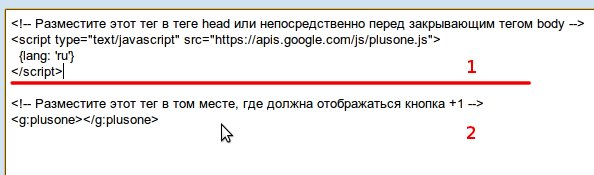 Как быстро установить Google +1 кнопку на WordPress