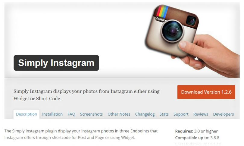 Виджет Instagram для WordPress